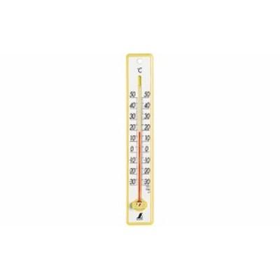 シンワ測定 温度計 プラスチック製 25cm  イエロー 48357