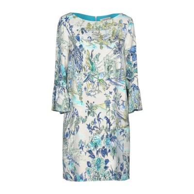 ANGELO MARANI ミニワンピース&ドレス ホワイト 40 シルク 90% / ナイロン 10% ミニワンピース&ドレス