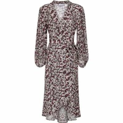 ガニー Ganni レディース ワンピース ラップドレス ワンピース・ドレス Floral crepe wrap dress Phantom