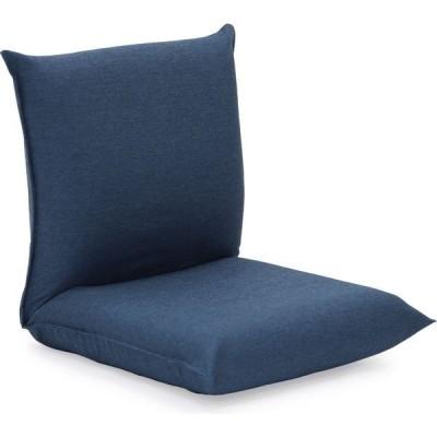 ヤマザキ 産学連携 コンパクト座椅子2 ブルー compact2-bl 1台(直送品)