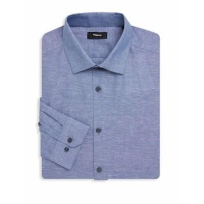 セオリー メンズ ドレスシャツ ワイシャツ Dover Chambray Dress Shirt