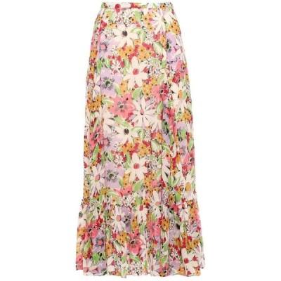 ティモ byTIMO レディース ひざ丈スカート スカート floral-print fil coupe midi skirt Multicolor