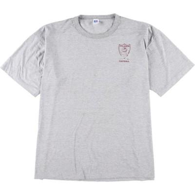 90年代 ラッセル Russell カレッジTシャツ USA製 メンズXXL ヴィンテージ /eaa149328