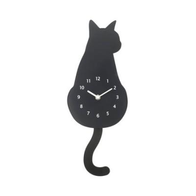 掛け時計 黒猫