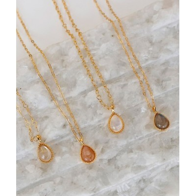 ANEMONE / ドロップ型天然石ネックレス[ジャルビジュー] WOMEN アクセサリー > ネックレス