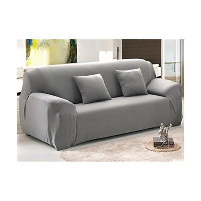 Elegant Comfort コレクション ラグジュアリーソフト家具 ジャージー ストレッチソファーカバー Love Seat ブラック 12RW-
