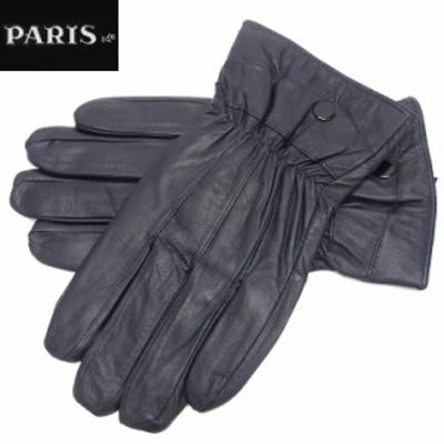 ◆手袋◆PARIS16e 羊革/シープスキン ネイビー メンズ グローブ メール便可 LAM-N07-NV
