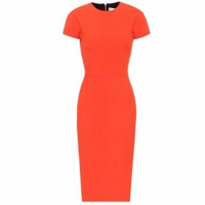 ヴィクトリア ベッカム Victoria Beckham レディース ワンピース ミドル丈 ワンピース・ドレス Crepe midi dress Orange