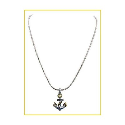 """John Medeiros Cubic Zirconia Anchor Slider Charm 16"""" ネックレス Made in The USA"""
