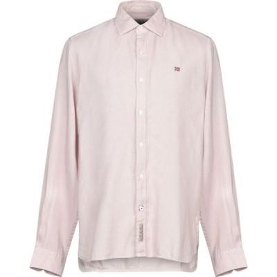 ナパピリ NAPAPIJRI メンズ シャツ トップス Linen Shirt Light pink
