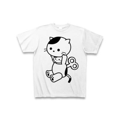 元気チャージ中!着ぐるみバイトねこ Tシャツ(ホワイト)