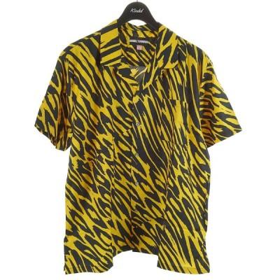 DOUBLE RAINBOUU HAWAIIAN SHIRT 総柄シャツ イエロー×ブラック サイズ:L (和歌山店) 210602