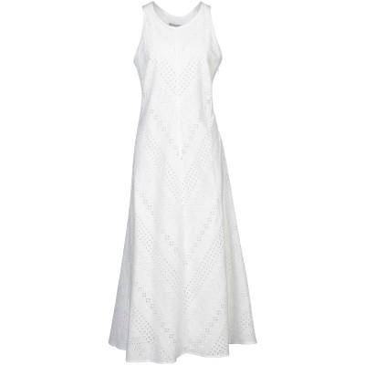 STEFANEL 7分丈ワンピース・ドレス ホワイト 36 コットン 100% 7分丈ワンピース・ドレス