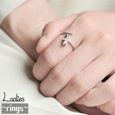 指輪 リング レディース アクセサリー ジュエリー キラキラ トンボ シルバーカラー ギフト プレゼント 贈り物 ファッション 小物 おしゃれ サイズ