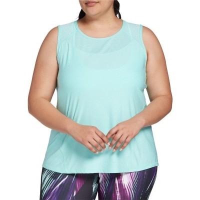 DSG シャツ トップス レディース DSG Women's Plus Size Performance Shadow Stripe Muscle Tank Top CapriSea
