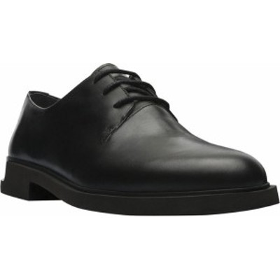カンペール レディース オックスフォード シューズ Iman Oxford Black Smooth Leather