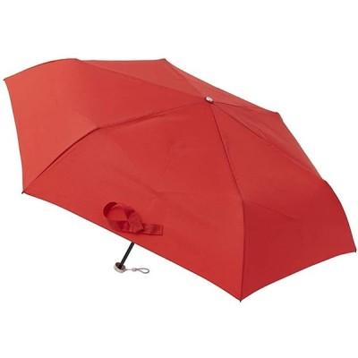 MOONBAT(ムーンバット) urawaza(ウラワザ) 3秒で折りたためる傘 無地 52cm レッド