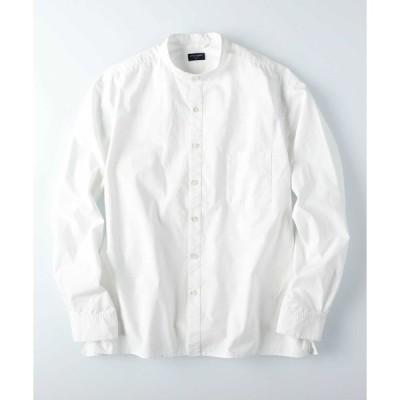 シャツ ブラウス 【BACK NUMBER】レギュラーバンドカラーシャツ