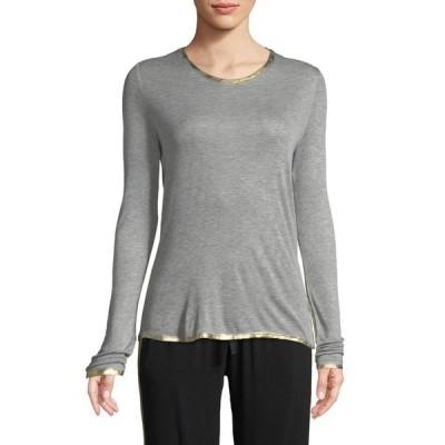 ザディグ エ ヴォルテール レディース Tシャツ トップス Willy Golden Foil-Detail Long-Sleeve T-Shirt