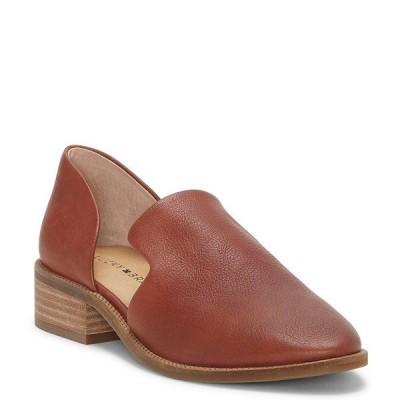 ラッキーブランド レディース サンダル シューズ Gennifa Leather Open Side Stacked Heel Loafers Ark Brown
