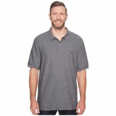 ノーティカ ポロシャツ Big & Tall Anchor Solid Deck Shirt Charcoal Heather
