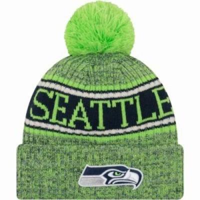 ニューエラ ニット Seattle Seahawks Sideline Cold Weather Reverse Green Sport Knit