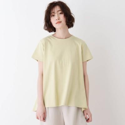 シューラルー SHOO-LA-RUE スーピマコットン後ろふわりTシャツ (イエロー系)