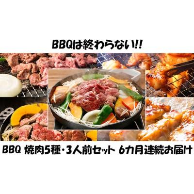 【6カ月連続】ハッピー!BBQセット ~焼肉5種 3人前コース~