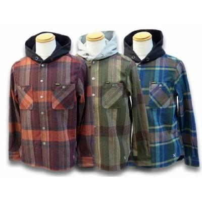 全3色BLUCO/ブルコ2020AW「Hood Nel Shirts/フードネルシャツ」(OL-049-020)対応(UNCROWD/アンクラウド/B