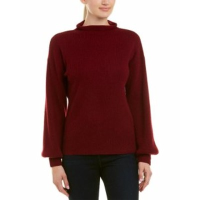 Red  ファッション トップス Qi Cashmere Funnel Neck Cashmere Sweater Xs Red