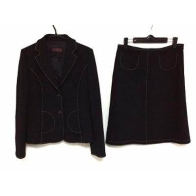 オールドイングランド OLD ENGLAND スカートスーツ サイズ38 M レディース 黒×白【中古】20200619