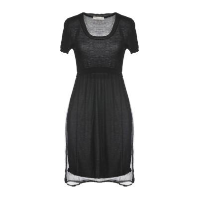 EVA WEEK-END ミニワンピース&ドレス ブラック S アクリル 50% / ウール 30% / レーヨン 10% / 毛(アルパカ) 10