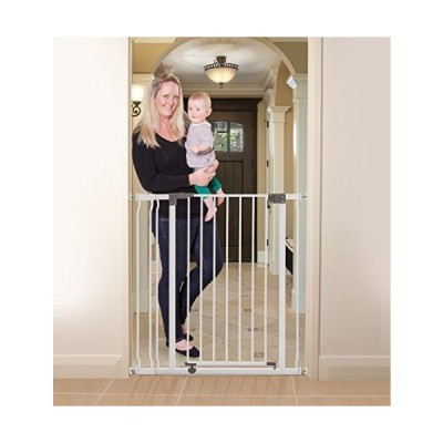 Dreambaby Liberty Extra Tall 29.5-36.5in Auto Close Metal Baby Gate - White【並行輸入品】