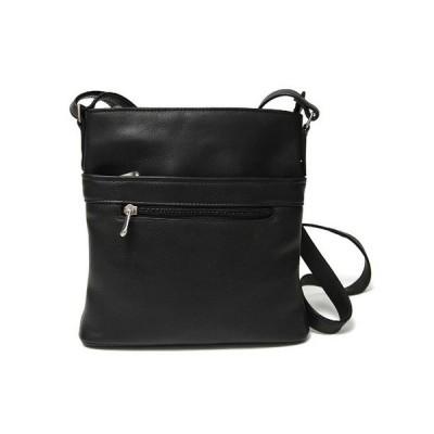 ロイス ショルダーバッグ バッグ レディース Royce Triple Zip Crossbody Bag in Colombian Genuine Leather Black