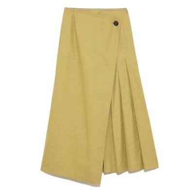 スコッチ釦タックディテール巻きスカート