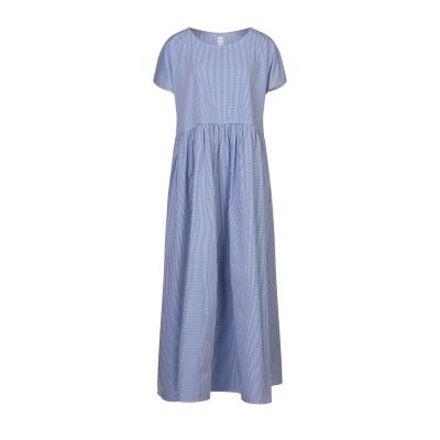 MI.YA ロングワンピース&ドレス ダークブルー 40 コットン 100% ロングワンピース&ドレス
