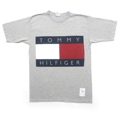 古着 USA製 トミー ヒルフィガー デカロゴ Tシャツ サイズ表記:M