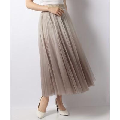 【ブージュルード】 グラデーションボリュームギャザースカート レディース モカ ONE SIZE Bou Jeloud