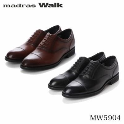 送料無料 マドラスウォーク madras Walk メンズ ビジネスシューズ ゴアテックス 幅広ラウンドトウのストレートチップ ビジネスシューズ M