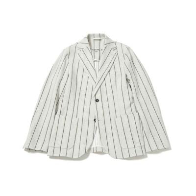 マルチストライププリント2Bジャケット