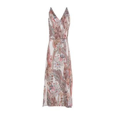 スーベニア SOUVENIR 7分丈ワンピース・ドレス ベージュ S ポリエステル 100% 7分丈ワンピース・ドレス