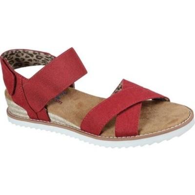 スケッチャーズ サンダル シューズ レディース BOBS Desert Kiss Secret Picnic Wedge Sandal (Women's) Red