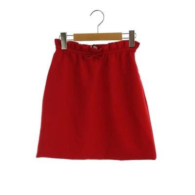 【中古】未使用品 ミュウミュウ miumiu 2019 Faille cady skirt スカート 台形 ミニ 36 赤 MG1272 /KN ■OS レディース 【ベクトル 古着】