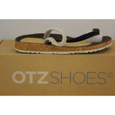 ブーツ オッツィ ユニセックス OTZ シューズ Diana Coarse Linen Tmoro/ブラック/ナチュラル 4602-TMOBN