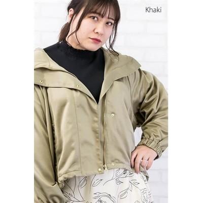 【大きいサイズ】 ラグランスリーブマウンテンパーカー コート, plus size coat