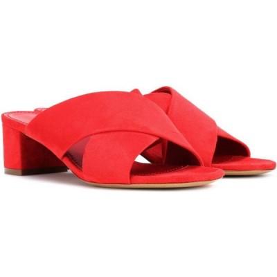 マンサーガブリエル Mansur Gavriel レディース サンダル・ミュール シューズ・靴 crossover suede sandals FLAMM FLAMMA