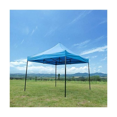 Goodgojo 10'x10' Ez Pop Up Canopy Tent Commercial Instant Shelter with Wheeled Carry Bag (Blue)