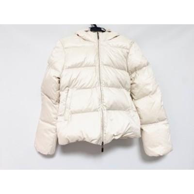 デュベティカ DUVETICA ダウンジャケット サイズ40 M レディース - アイボリー 長袖/ジップアップ/冬【中古】20201121