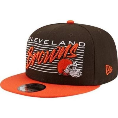 ニューエラ メンズ 帽子 アクセサリー New Era Men's Cleveland Browns 9Fifty Adjustable Dark Brown Hat