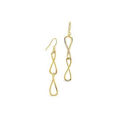 レディース アクセサリー  Sterling Forever 14K Plated Twisted Link Drop Earrings
